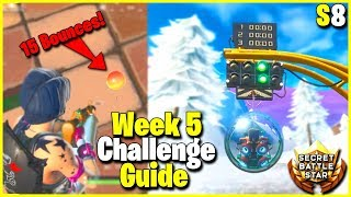 15 Bounces in 1 Throw, Happy Hamlet Race + Secret Battle Star | S8 Week 5 Challenge Guide | Fortnite