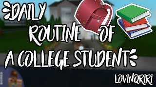Day in the life of a college student || ROBLOX Bloxburg Roleplay