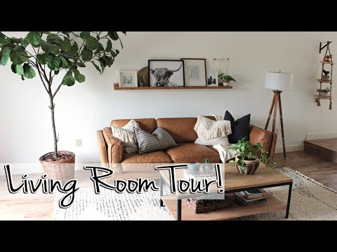Mid-Century Modern Living Room Tour 2019 | Our Florida Reno