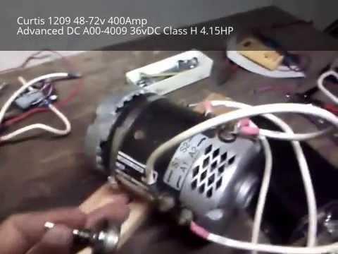curtis 1204 410 pmdc motor controller working!