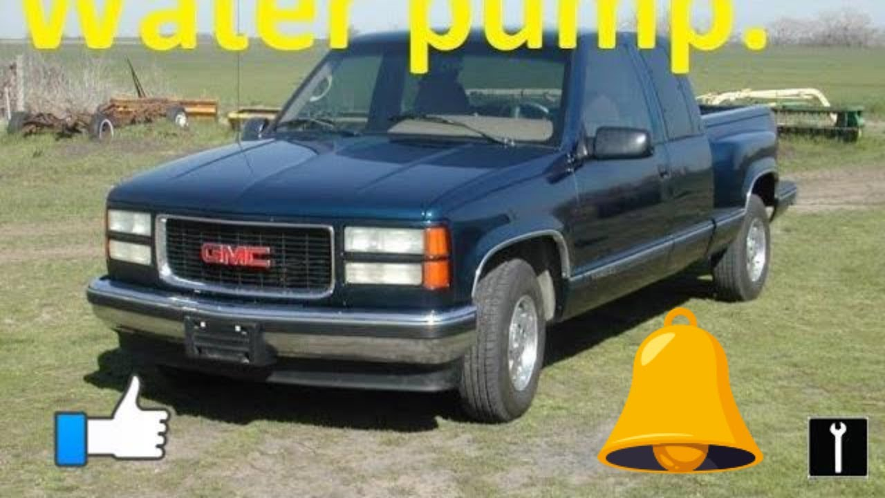 How to replace a water pump 1995 gmc sierra