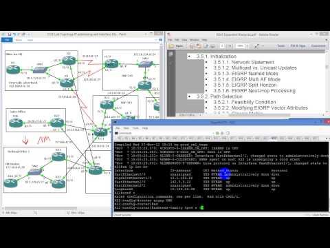 CCIE Labs   EIGRP Named mode, network statement, mcast and unicast updates, multi AF mode, split hor