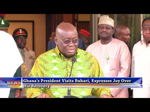 Ghana's President Visits Buhari, Expresses Joy Over His Recovery