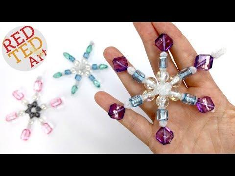 Pipe Cleaner Snowflake DIY - Easy Snowflake Ornaments for Christmas