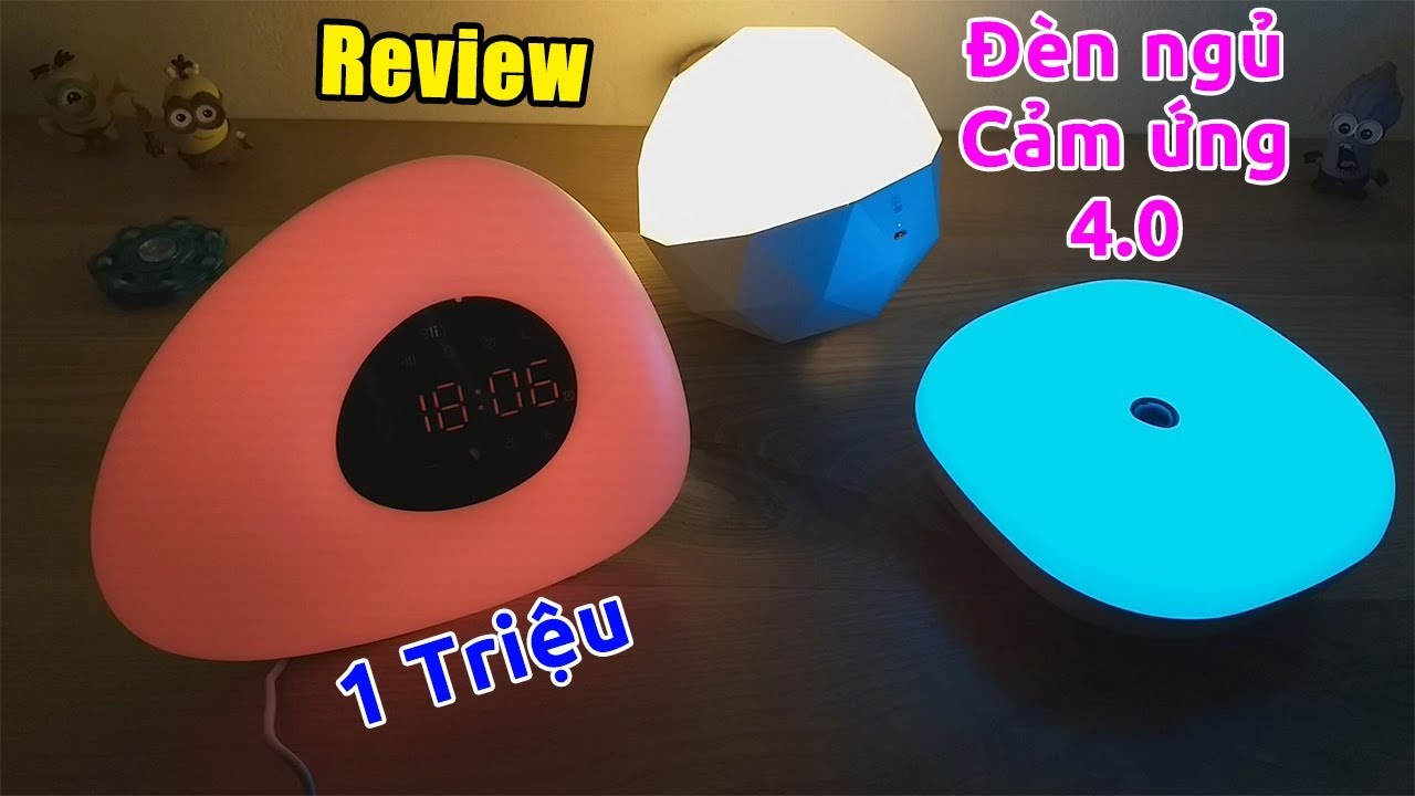 """Chơi lớn review cả bộ 3 đèn ngủ cảm ứng thông minh 4.0 """"giá rẻ"""""""