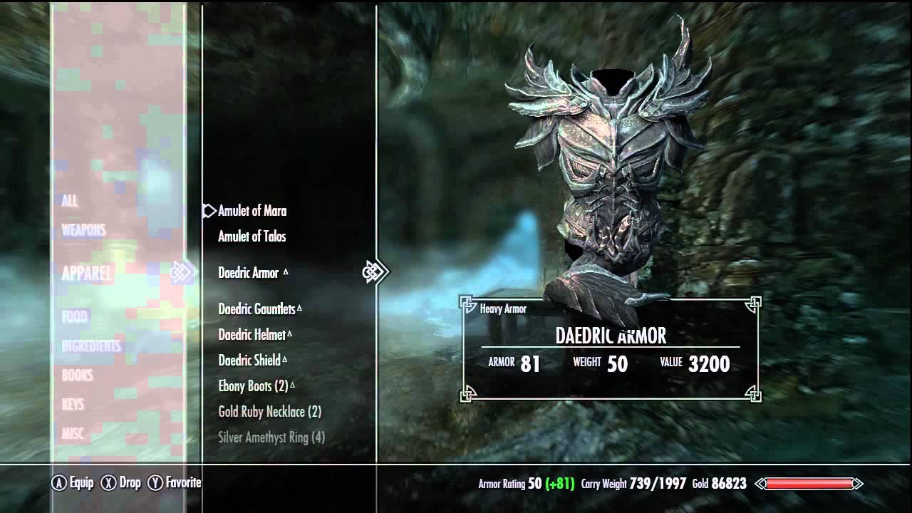Skyrim ebony armor locations