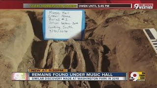Human bones found in Music Hall beneath orchestra pit