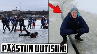 Maailman Ensimmäinen Pyörivä Jääkiekko-ottelu!