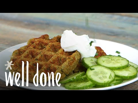 How To Make Falafel Waffles | Recipe | Well Done