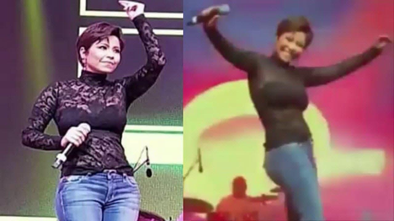 شيرين تشعل المسرح بالرقص في أول ظهور لها بعد ازمة البحرين