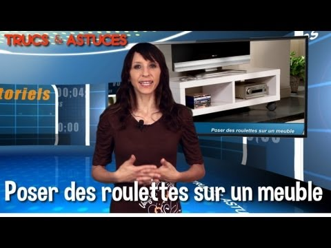 trucs et astuces poser des roulettes sur un meuble youtube. Black Bedroom Furniture Sets. Home Design Ideas
