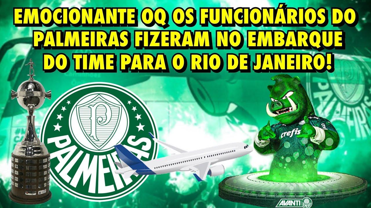 😱 É FINAL!!! EMOCIONANTE O QUE OS FUNCIONÁRIOS DO PALMEIRAS FIZERAM NO EMBARQUE DO TIME P/ O RJ ✈️