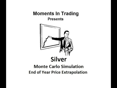 Silver Monte Carlo Year-End Price Extrapolation
