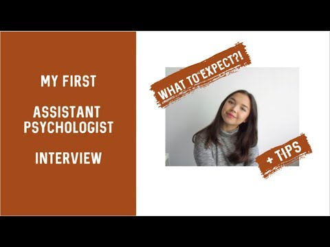 My First Assistant Psychologist Interview || Questions They Ask And Tips
