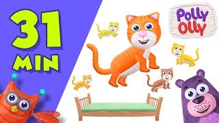 Five Little Kittens Jumping on the Bed | Popular Nursery Rhymes Collection by Polly Olly