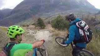 MTB Trailriding in the Swiss Alps, Canton Valais, Switzerland
