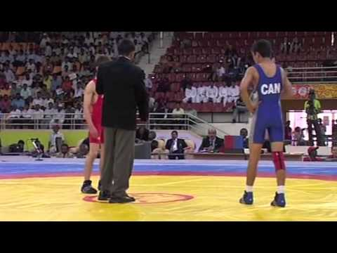 2008 Commonwealth Youth Games: 50 kg Justin Holland (AUS) vs. Steven Takahashi (CAN)