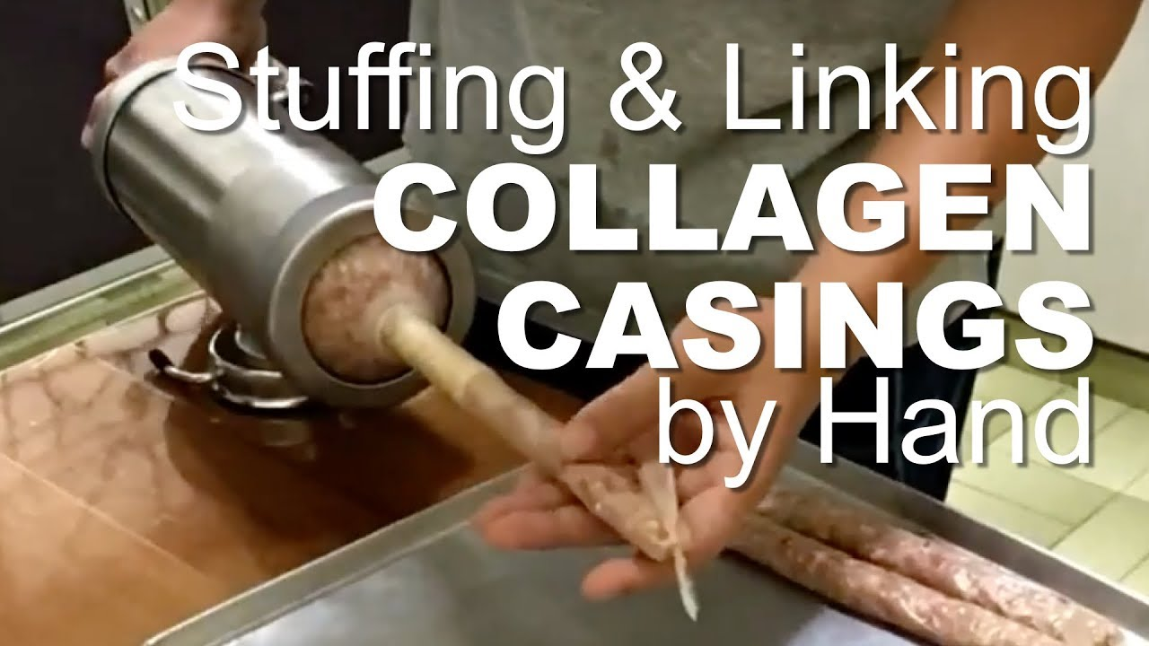 How to stuff and link collagen casings sausages at home (older version)