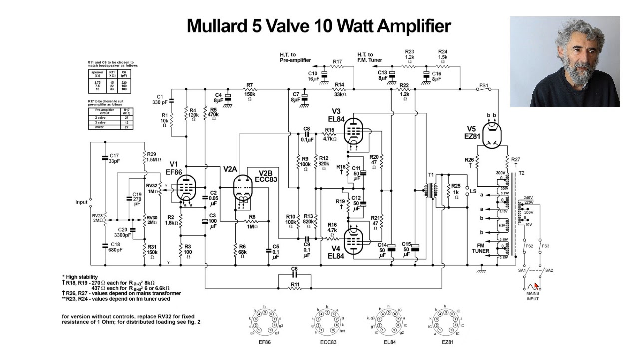 Mullard Wiring Diagram Stereophonic Pictures Schematic Dynaco Mkii Tube Amplifier Ampslabcom Valve Study Youtube 1280x720