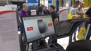 Балансировочный станок SICAM SBM V85 на выставке AUTOPROMOTEC 2017 в Болонье