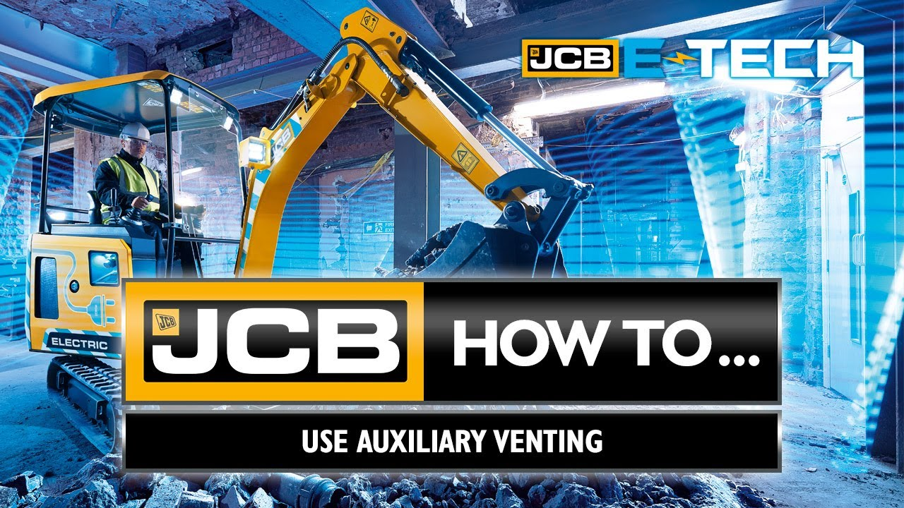 How to use Auxiliary Venting on the JCB 19C-1E  electric mini excavator