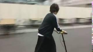 愛車   #キックボード #日村さんTシャツ着用 #落としたティッシュは回収...