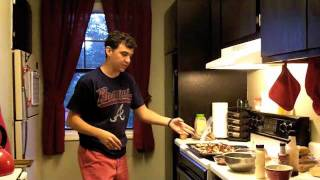 Bacon Wrapped Bbq Shrimp Po' Boy- Cookin' For College
