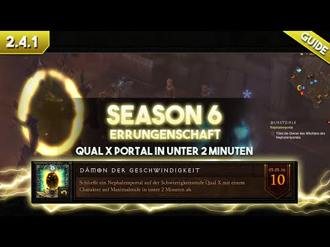 Diablo 3 [Patch 2.4.1]: Guide zur Errungenschaft Dämon der Geschwindigkeit (Season 6)
