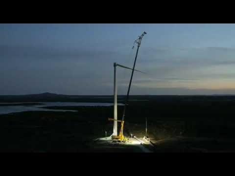 3 mw vestas v90 turbine topping out atop an 80m high. Black Bedroom Furniture Sets. Home Design Ideas
