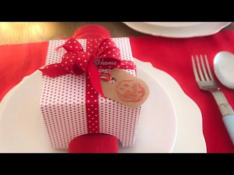 """easy DIY occasion dinner napkin holder """"gift"""" 🎁"""