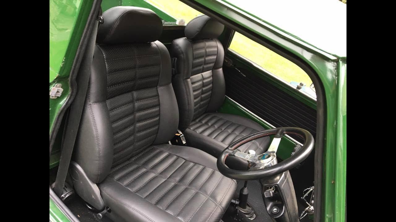Classic mini pickup Retro Retrims interior Taunton Somerset - YouTube