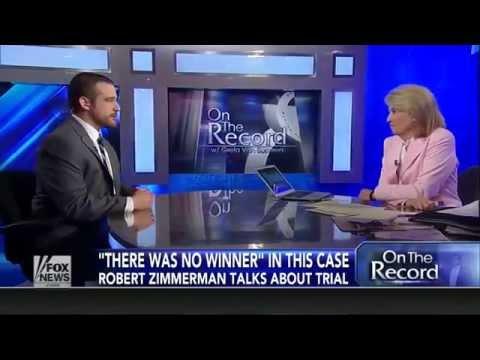 Robert Zimmerman Full Interview with Greta Van Susteren: I Would Give Trayvon's Parent A Hug