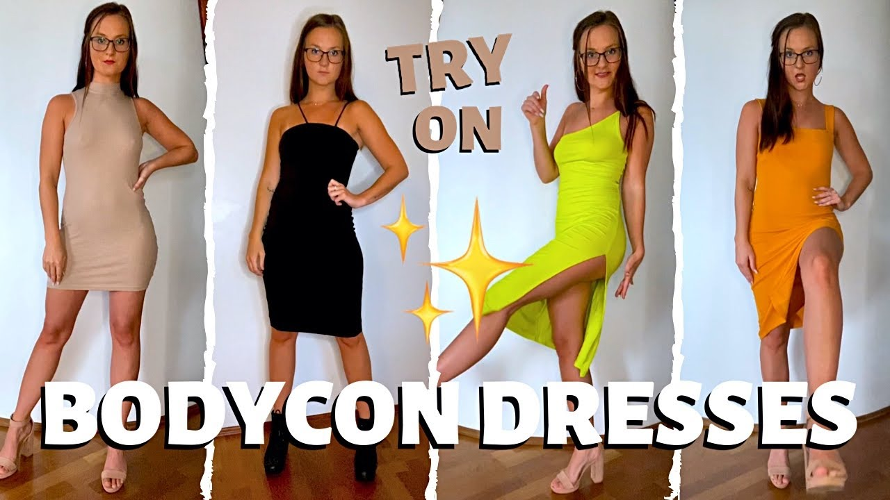 New BodyCon Dresses TRY ON HAUL | Tight, Fitting Style