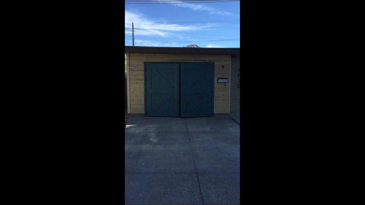 Swing Out Carriage Style Garage Doors Youtube