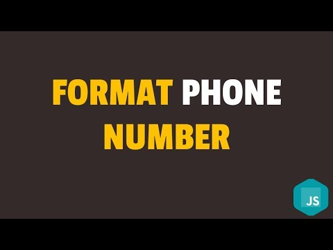 How To Format Phone Number In Javascript