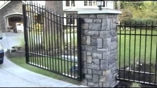 Iron Wooden Driveway Gates In Kearny Nj. (800)576-5919