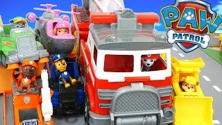 Paw Patrol Ultimate Rescue Fire Truck Toys Pups Rescue Animals In Adventure Bay!