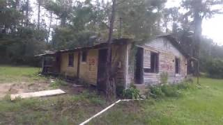 abandoned home sinking in cesspool!