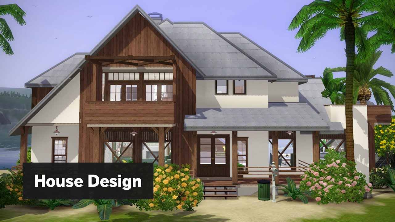 Modern Beach House [The Sims 3 House Design] - YouTube