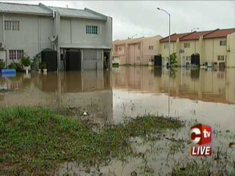 Hundreds Affected By Flood Waters
