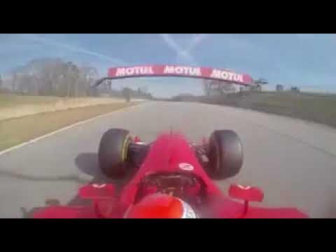 Charming Marc Gene F1 LAP RECORD Road Atlanta Ferrari F2003 GA (1:01.2) Onboard Cam