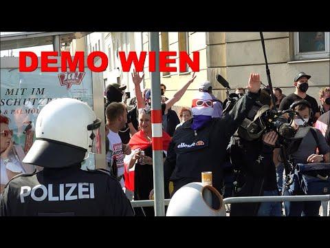 Corona-Demo in Wien: POLIZEI im Dauereinsatz.