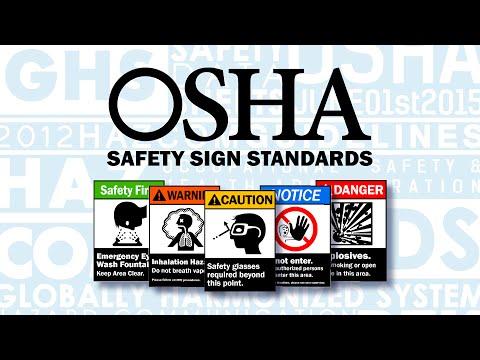 OSHA / ANSI Safety Sign Standards