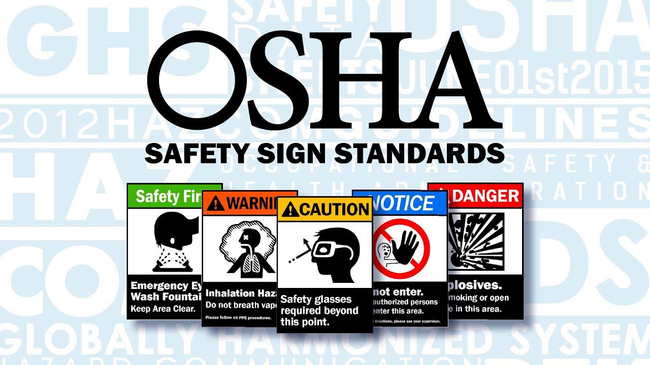 osha ansi safety sign standards youtube rh youtube com Caution Safety Signs Caution Safety Signs