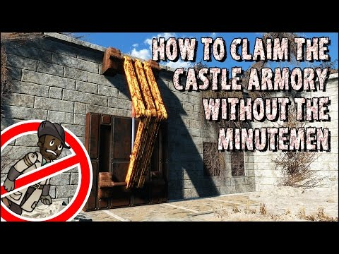 How to Get into the Castle Armory without the Minutemen in Fallout 4