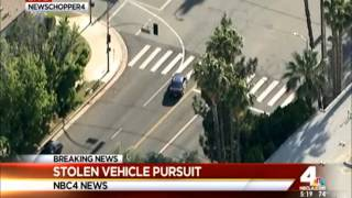04/24/2016 Los Angeles Area Police Chase 2016 - Stolen Car (Action Packed)
