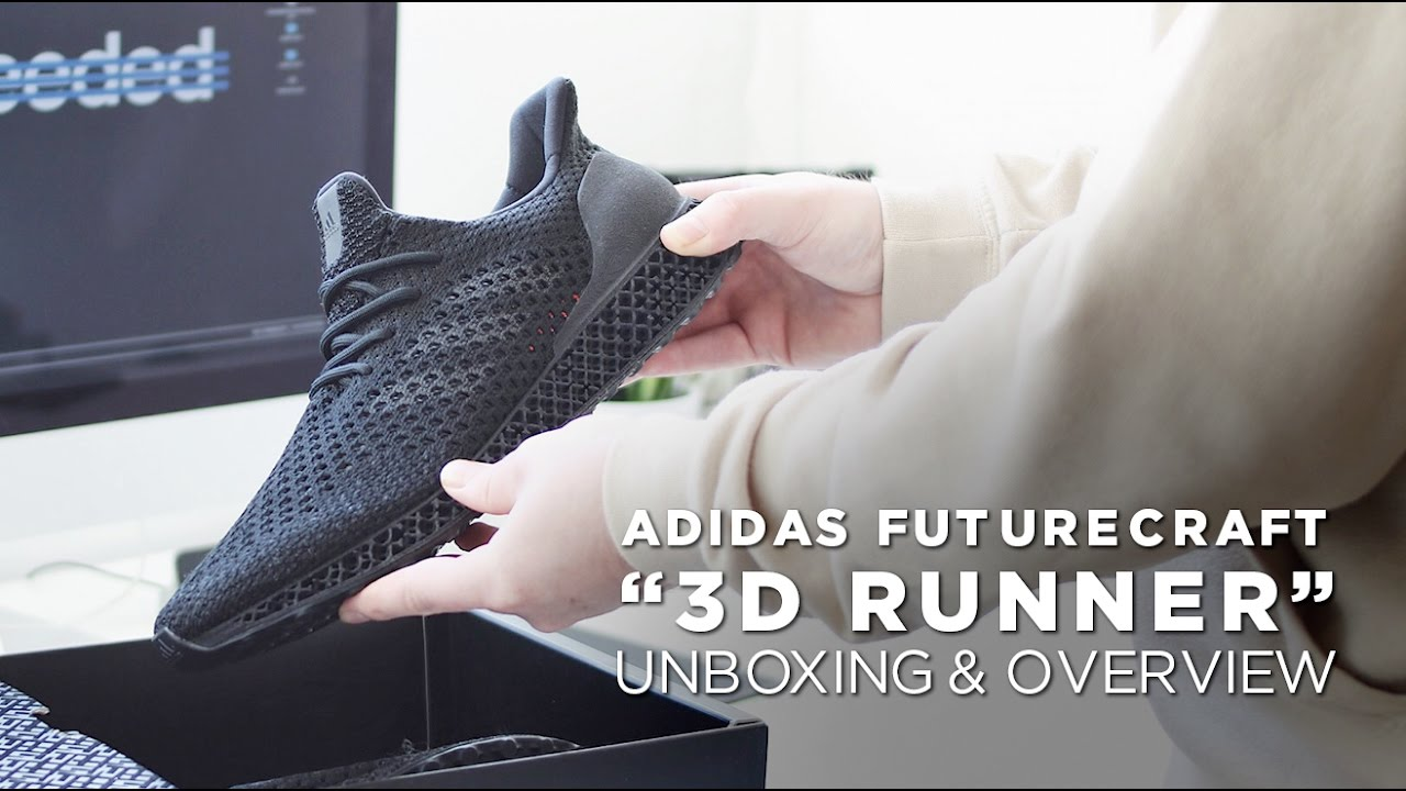 huge selection of 6e7b6 ad554 adidas Futurecraft 3D Runner - Unboxing  Visual Overview - Y