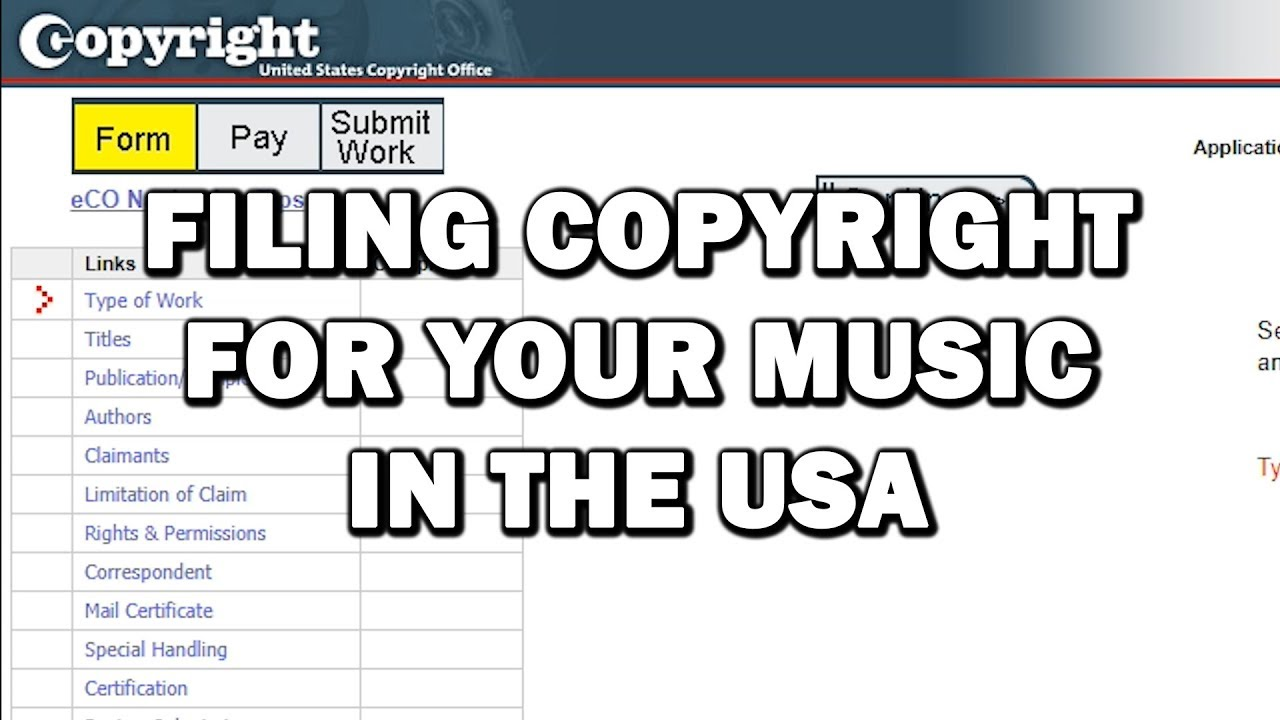 how to file for a copyright