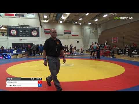 Mens Freestyle 70 Consi of 8 #2 - Ki Hun Han (Kore) vs. Santiago Martinez (LVWC)