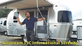 Walk Through 2017 Airstream International Serenity 19C Bambi Small Tiny Light Weight Camping Trailer